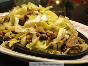 Stir Fried Beef with Leeks
