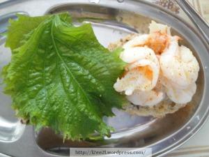 Sautéed Shrimp Sliders with Shiso Leaves