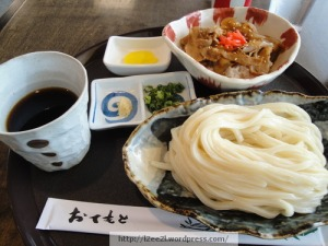 Lunch Combo: Cold Udon and Pork Rice Bowl