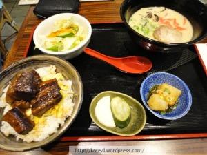 Kakuni Rice Bowl and Mini Ramen
