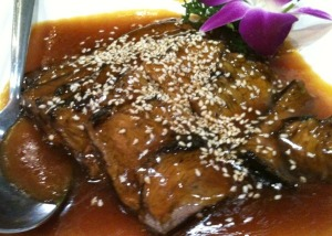 Crispy Beef with Sesame Seed Gravy
