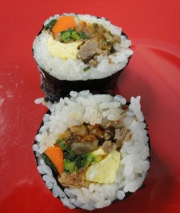 Beef and Kimchee Kimbap