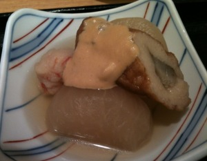 Oden with Hot Mustard