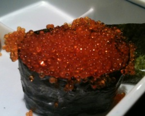 Tobiko (Flying Fish Roe) Sushi