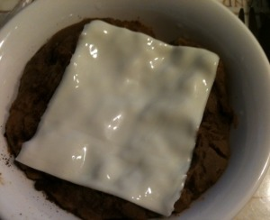Refried Beans and Cream Cheese