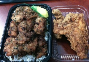 Furikake Fish and Fried Chicken