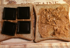Chocolate Peanut Butter Sandwich