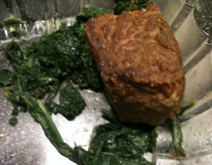 Steak (with a little kale)