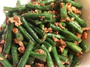 Stir-Fried Long Bean with Minced Pork