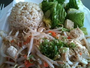 Stir-Fried Vegetables and Tofu with Brown Rice