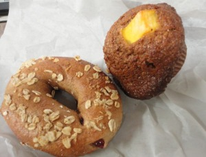Bagel and Mango Bran Muffin