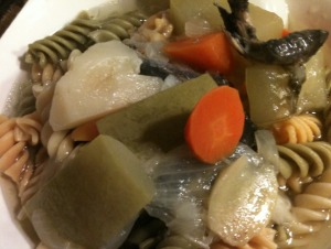 Black Bone Chicken and Vegetable Soup