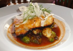 Long-tailed Snapper, Brussel Sprouts