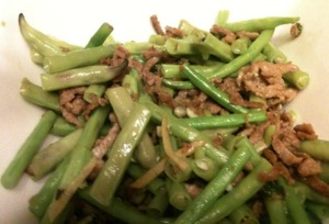Long Beans with Pork