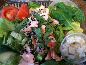 Salmon Watercress Tofu Salad