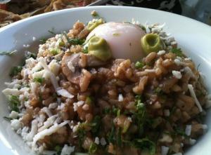 Perfect Egg on Creamy Rice