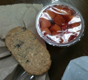 Breakfast Cookie and Fruit Jello
