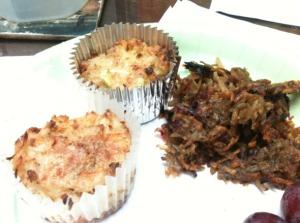 Baked Crab Cakes, Sweet Potato Hash Brown