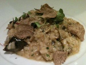 Wild Mushroom Risotto with White Truffles