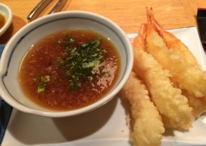 Shrimp Tempura with Radish and Green Onion Dipping Sauce