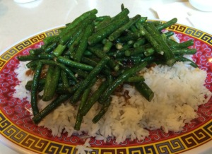 Green Beans with Chinese Salted Black Beans over Rice