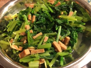 Turnip Greens with SPAM