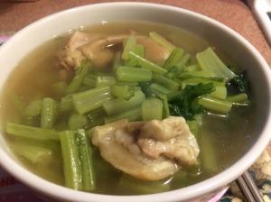 Pork Hock Soup with Turnip Greens