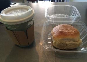 Small Coffee and Buttermilk Biscuit