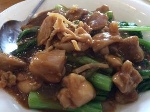 Boneless Chicken with Choi Sum