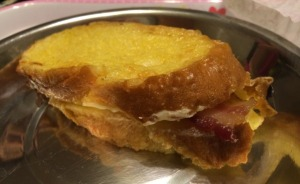 Cream Cheese and Bacon French Toast