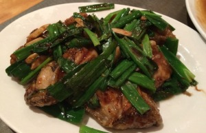 Pan-Fried Oyster with Ginger and Green Onions