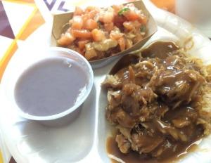 Poi, Lomi Sardine, Roast Pork with Gravy