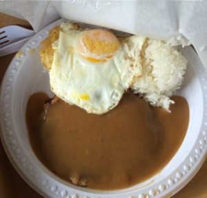 Corned BeeF with Gravy, Rice and Egg