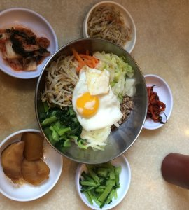 Bibimbap with Banchan