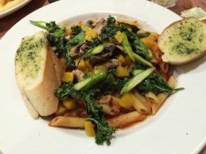 The Mouse's Pasta Primavera (w/ kale, mushrooms, asparagus, beets, marinara & Pecorino on penne)