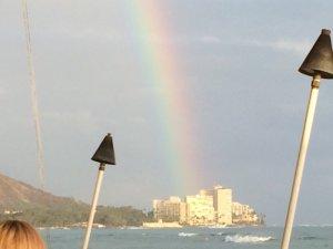 Intermission: Rainbow off of Diamond Head