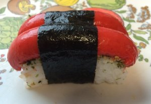 Hot Dog Musubi - Late Morning Nosh