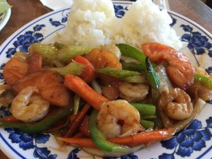 The Cat's Shrimp Stir-Fry