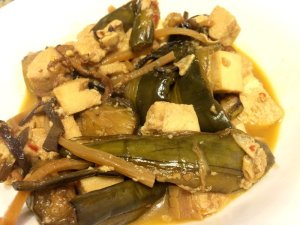 Leftover Spicy Eggplant with Ice Tofu
