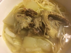 Fowl Noodle Soup with Winter Melon