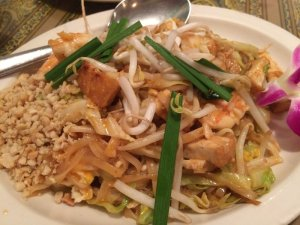 "Newspaper Noodles ""Pad Thai"""