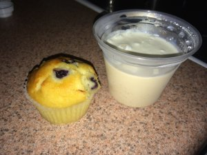 Blueberry Muffin and Coffee Jello or Pudding