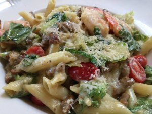 Grilled Herb Chicken & Pesto Penne