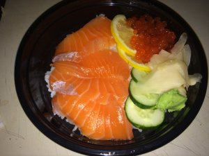 Salmon and Ikura Rice Bowl