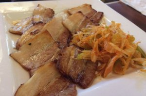 Char-Siu Pork and Japanese Scallions