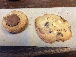 Peanut Butter Cup Cookie and Chocolate Chip Mac Cookie