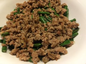 Dried-Fried Long Beans with Ground Pork