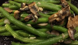 Green Beans, Mushroom, and Onions