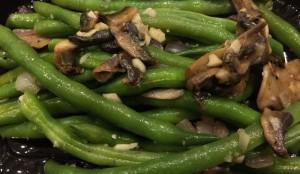 Green Beans, Mushroom, and Onions