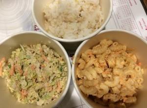 South Shore Slaw, Tuna Mac Salad, Brown Rice